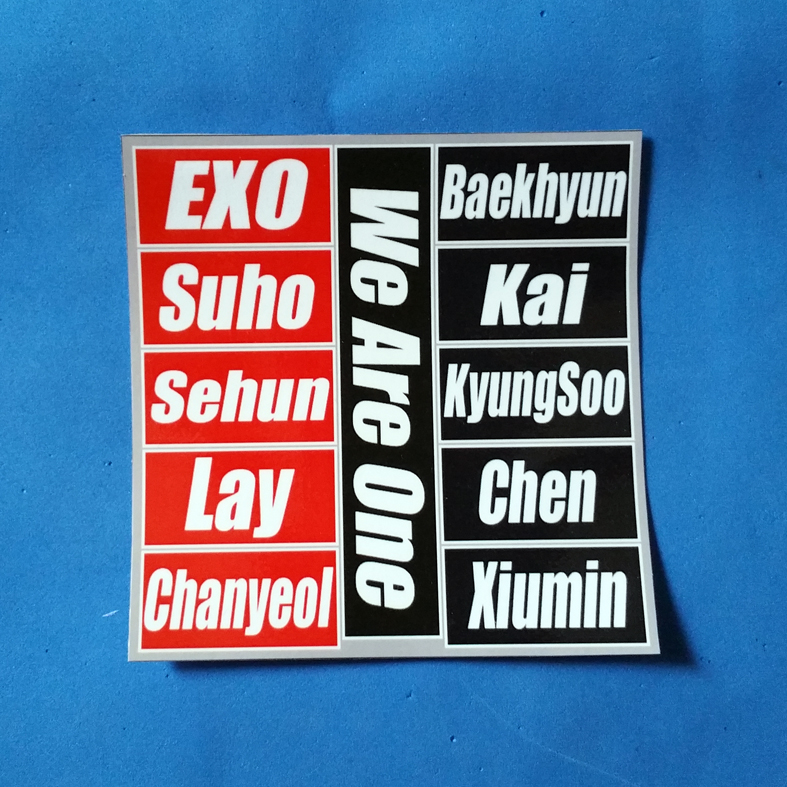STICKER DAFTAR PERSONEL KPOP CUSTOM