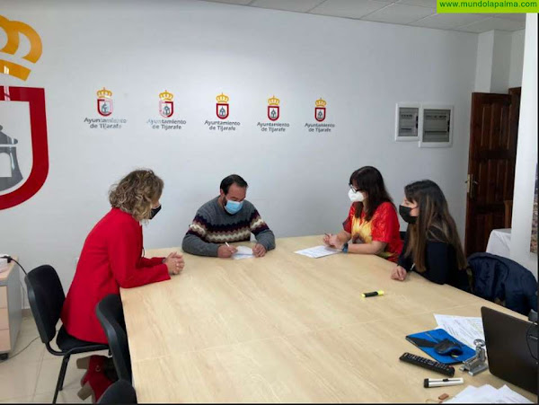 El Ayto. de Tijarafe y Salud Mental La Palma firmaron un convenio de colaboración que posibilitará la atención apersonas y familias