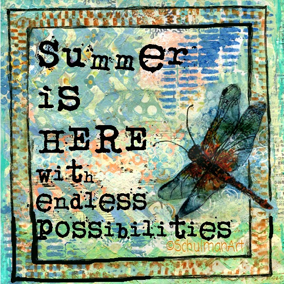 dragonfly art with inspirational quote by @schulmanArt