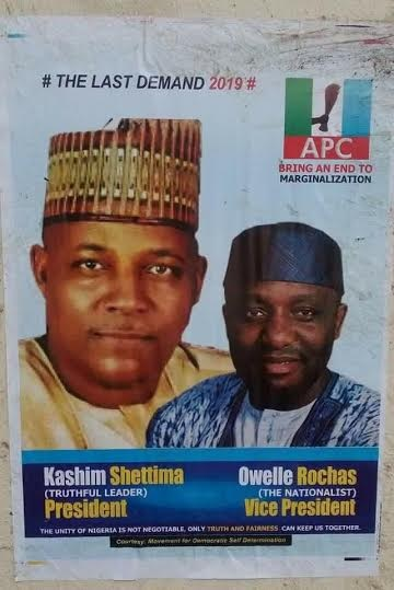 So Soon? Shettima, Okorocha 2019 Presidential Poster Floods Abuja, See Photos