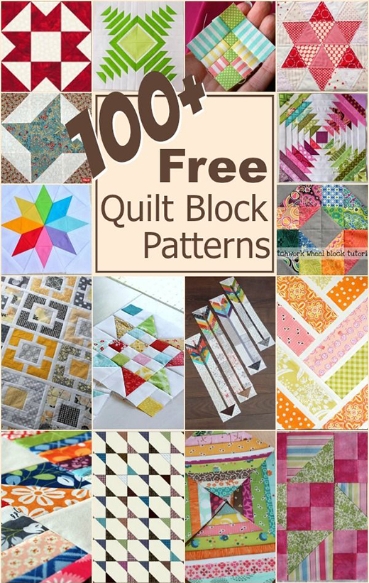 100+ Free Quilt Blocks Patterns