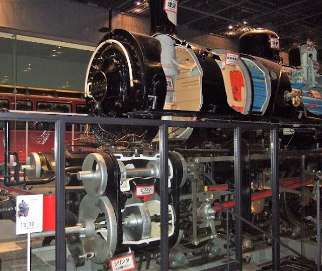 フランスから輸入した蒸気機関車の頭部