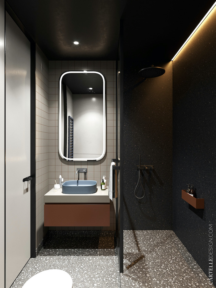 Baño de apartamento pequeño