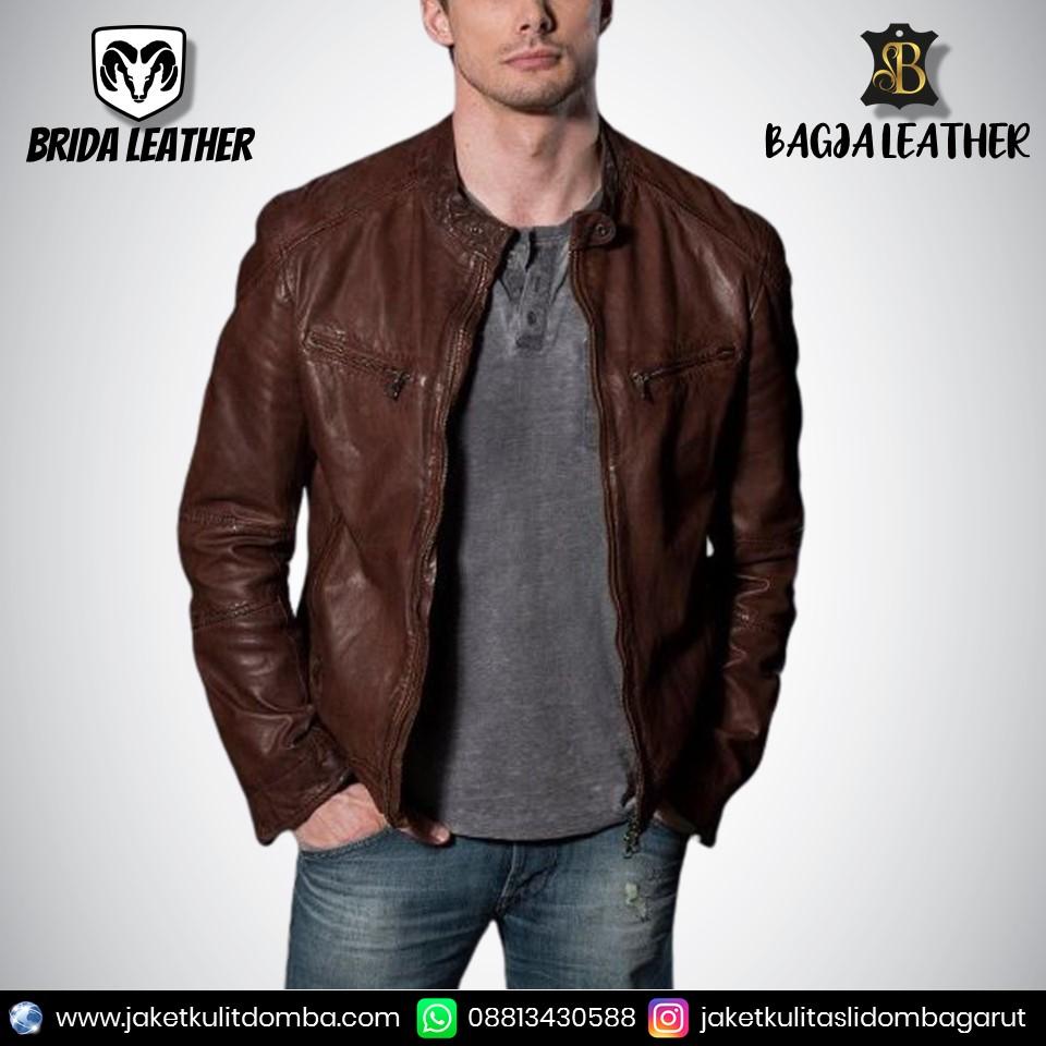 jaket kulit tanpa lengan