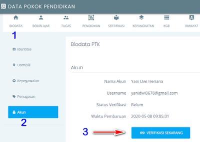 verfikasi akun PTK di SSO login SSO PTK di https://ptk.datadik.kemdikbud.go.id/