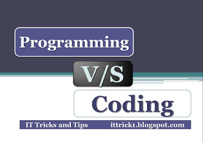 Programming vs coding | difference between programming and coding