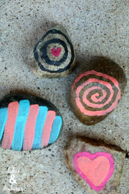 easy ideas for painted rocks for kids - how to paint glow in the dark rocks