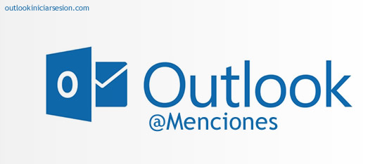 menciones en outlook