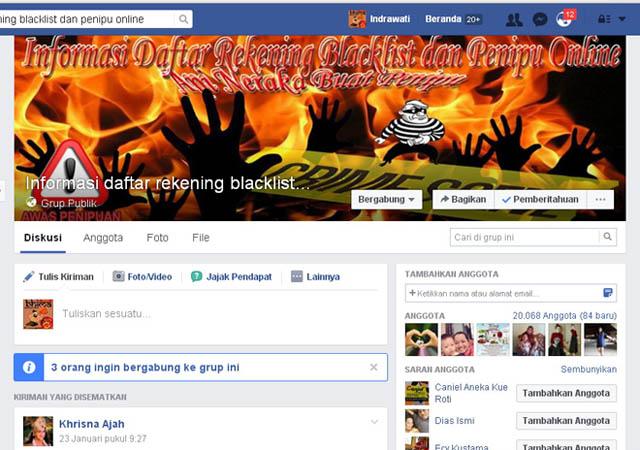 Informasi Rekening Blacklist Dan Penipu Online Laporan Penipuan