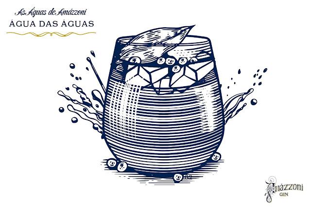 """Drinks originais com Amázzoni Gin - """"Água das Águas"""""""