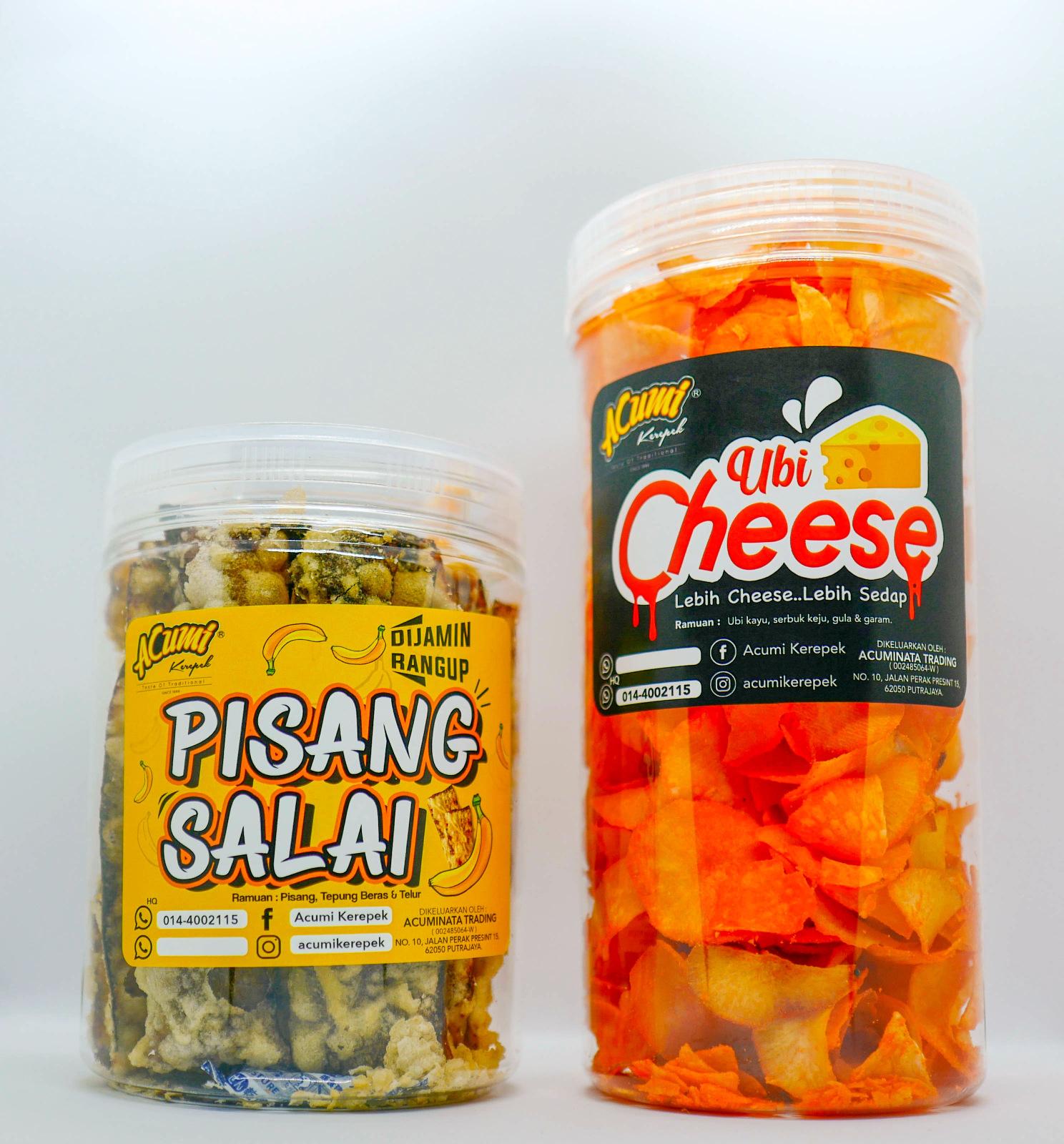 Acumi Kerepek: Pisang Salai & Ubi Cheese Snacks