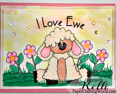 Lamb, I Love Ewe Digital Stamp Card