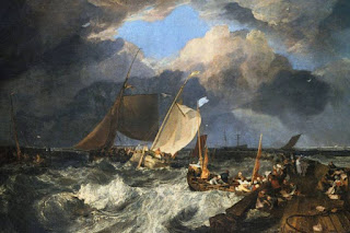 "J M W Turner's ""Setting Sail from Calais Pier"""