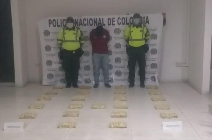 Policía Metropolitana de Santa Marta incauta 30 kilos de marihuana