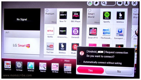 How to Cast Screen Nexus 5 to LG Smart TV - LG TV Miracast