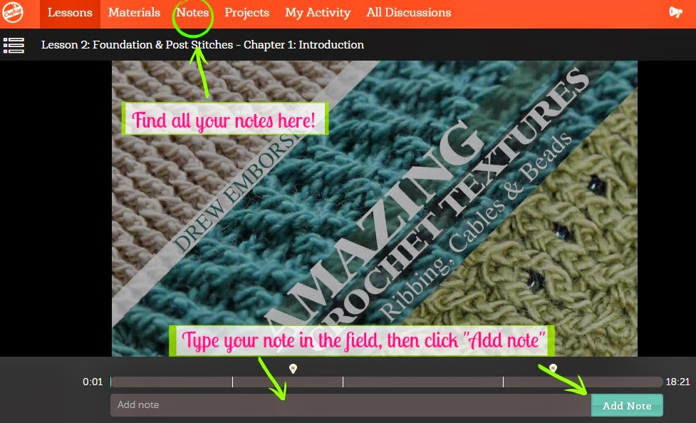 Review of Amazing Crochet Textures - The Free Craftsy Class from The Crochet Dude