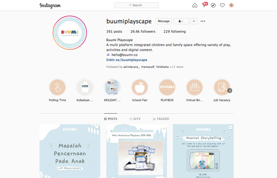 instagram Buumi Playscape