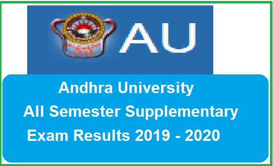 Andhra University Supply Results 2019 - 2020