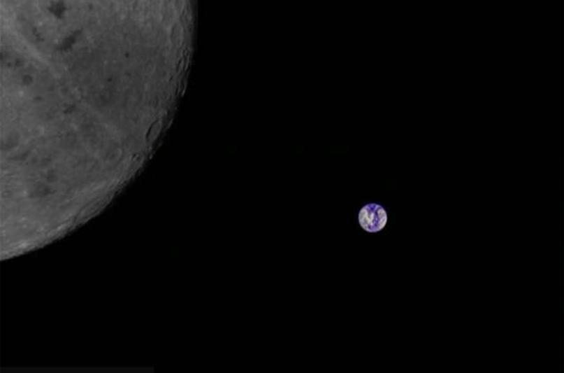 Fan usano un satellite cinese per fotografare la Terra e la Luna dallo Spazio.