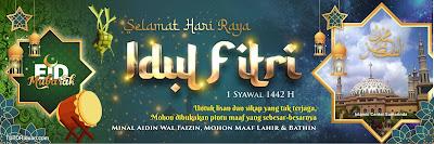 Spanduk Idul Fitri 1442 H PSD