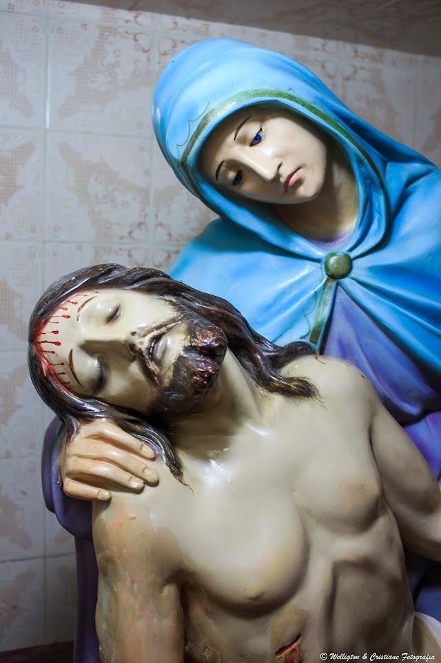 Obra de arte na Igreja Matriz de Chaval