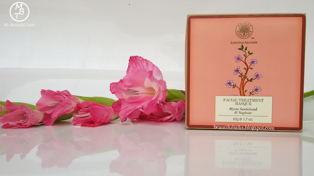 Forest Essentials FACIAL TREATMENT MASQUE NOURISHING Mysore Sandalwood & Nagkesar Packaging