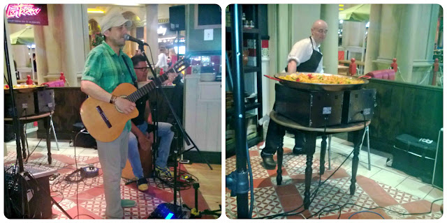 Live Music and Paella making at La Tasca Trafford Centre Manchester