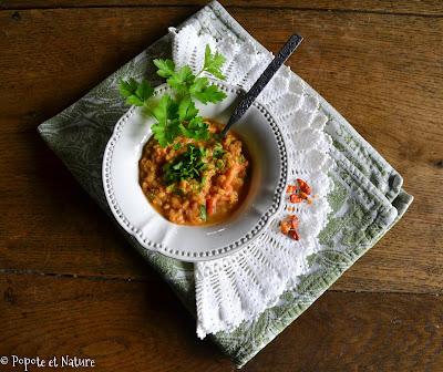 Mesir wat ou ragoût de lentilles corail à l'éthiopienne @Popote et Nature