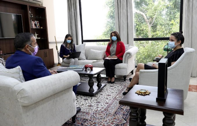 El Embajador saharaui en Panamá mantiene importantes reuniones con altos cargos de la Cancillería panameña.