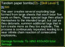 naruto castle defense 6.7 Tandem Paper Bombs detail