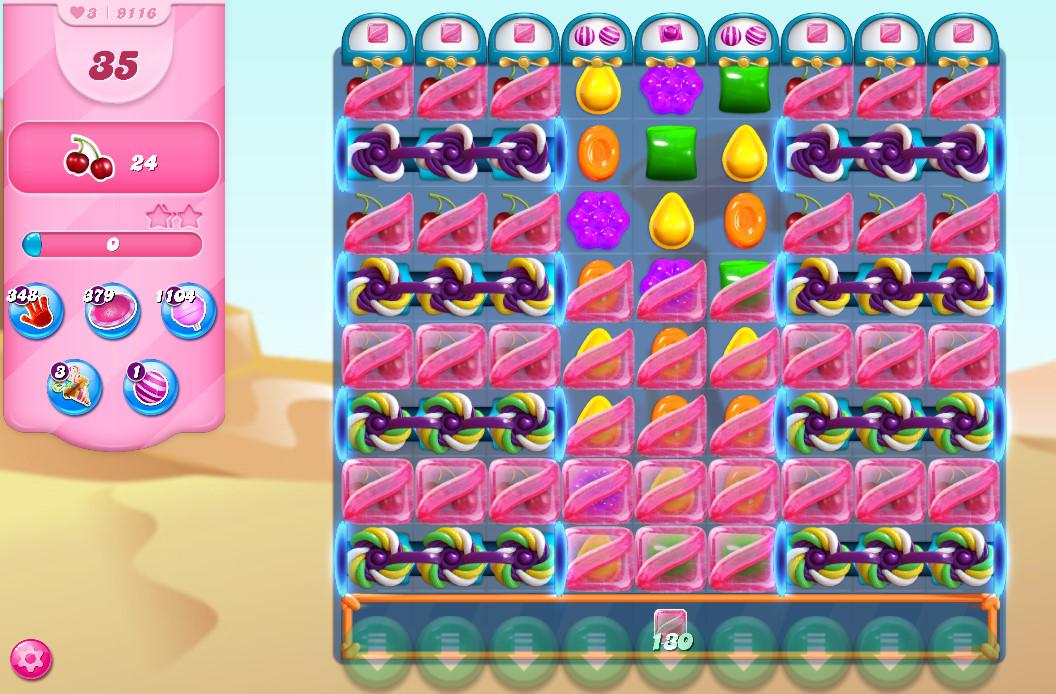 Candy Crush Saga level 9116