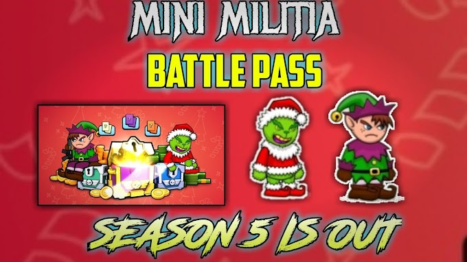Mini Militia New Battlepass Season 5 is Out With New Rewards
