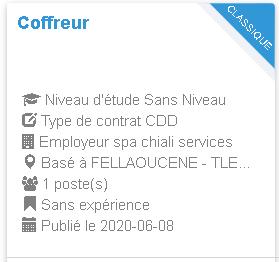 FELLAOUCENE - TLEMCEN spa chiali services Coffreur