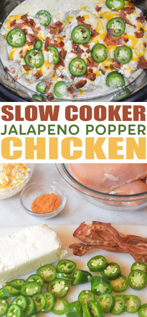 Slow Cooker Jalapeno Popper Chicken