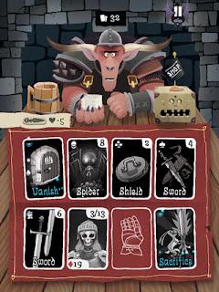 Card Crawlのプレイ画面