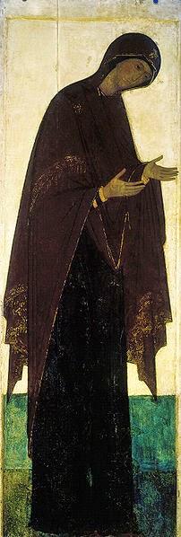 Theotokos de Desis - Andrei Rublev e suas pinturas ~ Bizantino