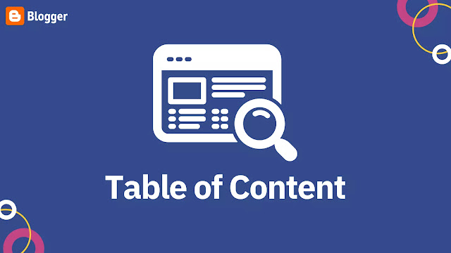 How to add a table of content in Blogger website