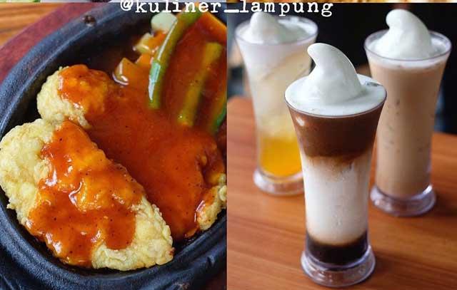 kuliner lampung aura book coffe