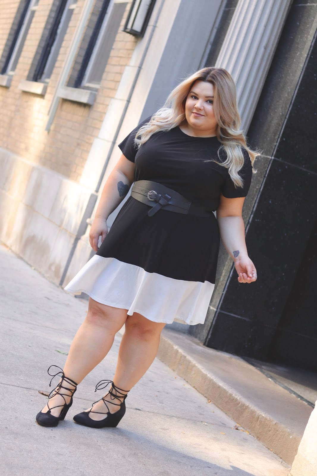 natalie in the city, dream big curvy girl fashion & beauty conference, the curvy con, full figured fashion week, the curvy fashionista, plus model magazine, fabulous, skorch magazine, plus size fashion, affordable plus size clothing, natalie craig, Chicago fashion blogger, plus size fashion blogger, color block dress, office attire, business casual plus size
