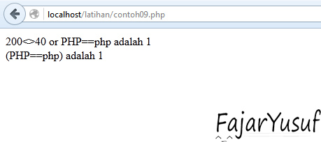 Contoh09 (Operator Logika)