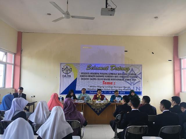 MAHASISWA FAKULTAS SYARIAH MENGIKUTI COACHING MAGANG PERADILAN