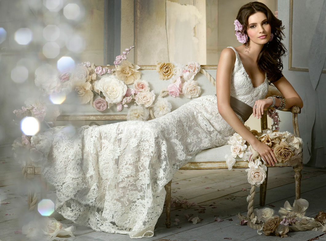Dream Wedding Place: Lovely Wedding Dresses By Jim Hjelm