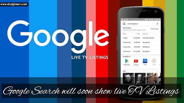 Google Search will soon show live TV Listings