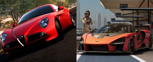 Differences between NFS Hot Pursuit vs Forza Motorsport 8