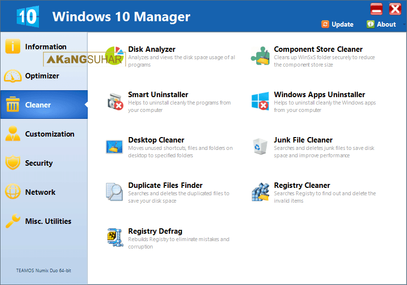 Download Windows 10 Manager 2.0.5 Final Full Version