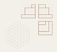 Figura 07 Representación isométrica de un objeto dadas sus vistas
