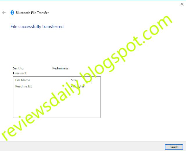 success bluetooth tranfer file