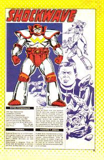 Onda de Choque Ficha DC Comics