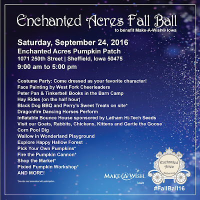 Make-A-Wish Fall Ball at Enchanted Acres, Saturday, September 24th