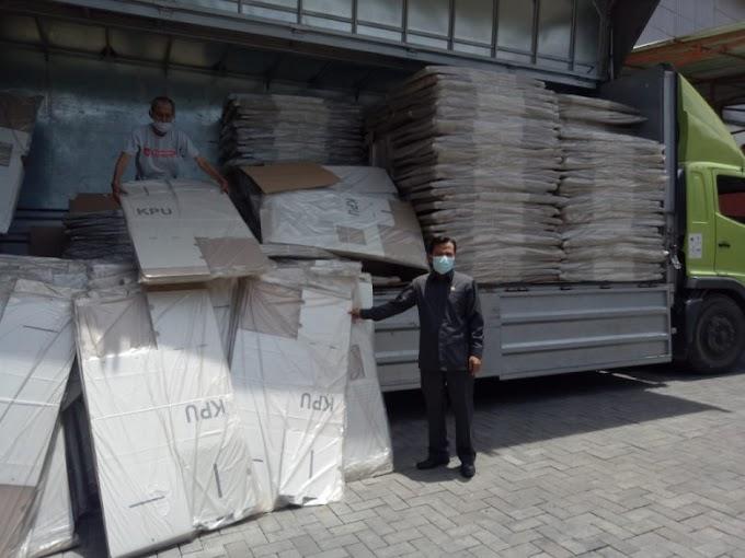 KPU Depok Terima 4.049 Logistik Kotak Suara